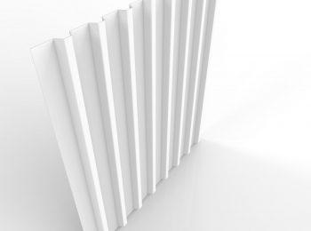 Die Trapezblech-Dachdeckung in weiß