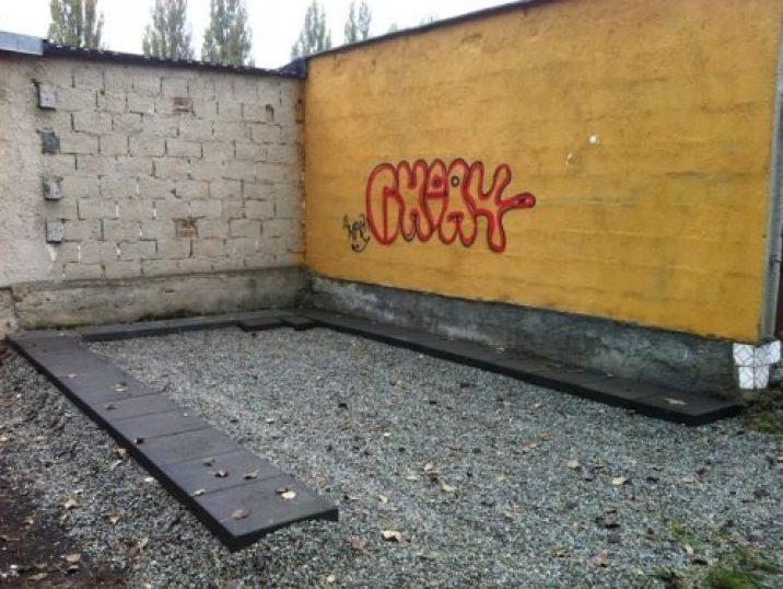 Betonquadern unter die Garage