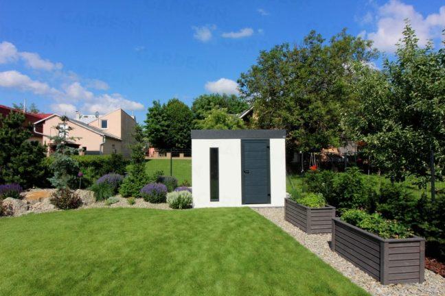 Gartenhaus GARDEON in einem Garten