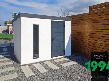 Design-Gartenhäuschen GARDEON in weiß