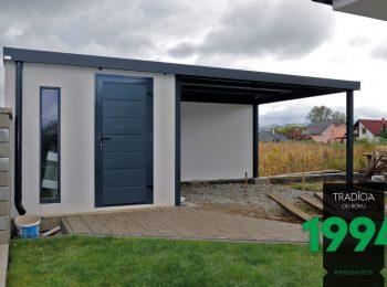 GARDEON Gartenhaus mit Zubehör in anthrazit - RAL 7016