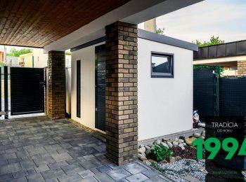 Schlicht aber modern - Gartenhaus von GARDEON in weiß