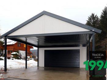 Individualisierte Garage mit Carport GARDEON - inkl. Satteldach