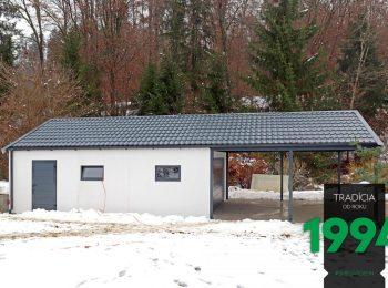 Individuelle Garage mit Carport im vorderen Bereich - Maßanfertigung GARDEON