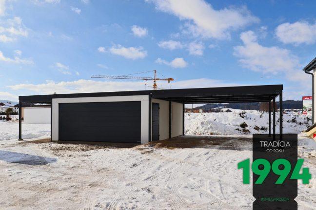 Eine Garage mit 2 Carports - Maßanfertigung GARDEON