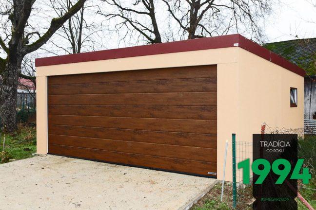 Einfache Garage von GARDEON für 2 PKWs