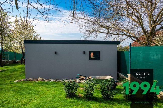 GARDEON - Garage mit Überdachung - Seitenansicht