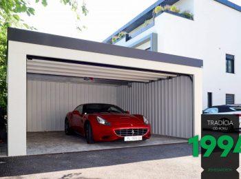 Die moderne GARDEON Doppelgarage bietet einen Parkplatz für ein Ferrari