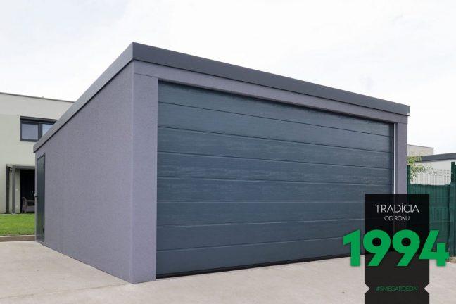 Dunkle Garage für 2 PKWs - GARDEON