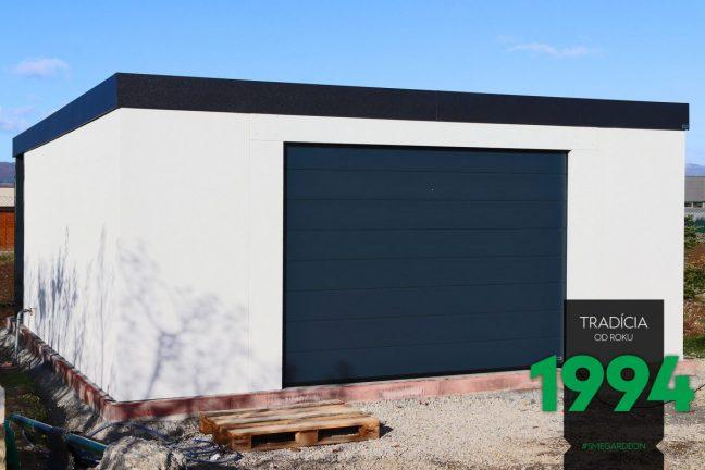 Maßangefertigte Garage von GARDEON mit einem Tor