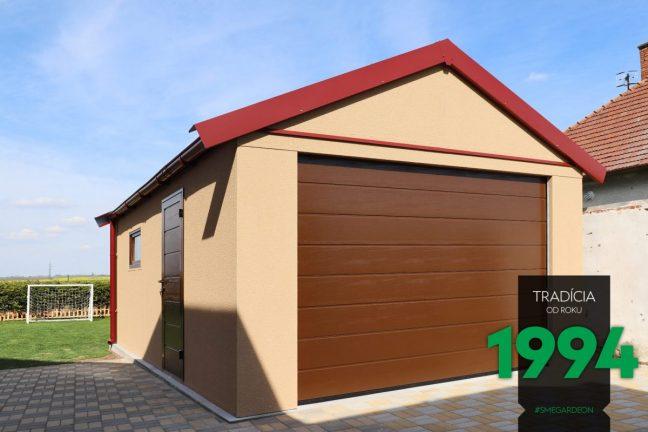 GARDEON Einzelgarage mit rotem Satteldach