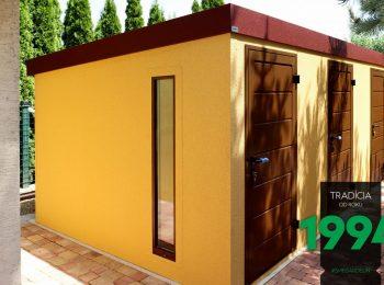 Eine individuelle GARDEON Gartenhütte mit 3 Türen