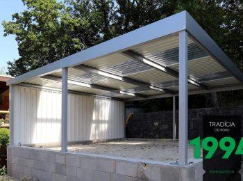 Carport GARDEON mit durchsichtigen Dachpaneelen