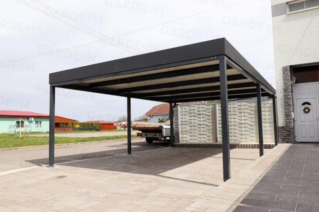 Carport für 2 PKWs in RAL 7016