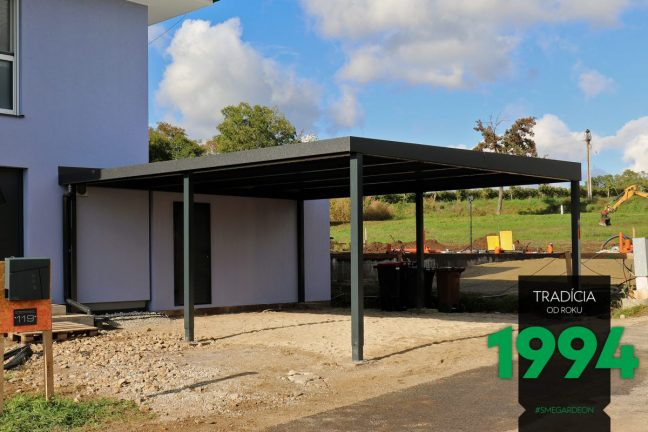 GARDEON Carport angepasst an das Familienhaus