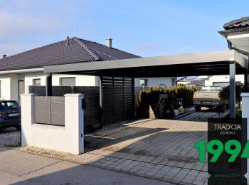 GARDEON: Montiertes Carport für 2 PKWs