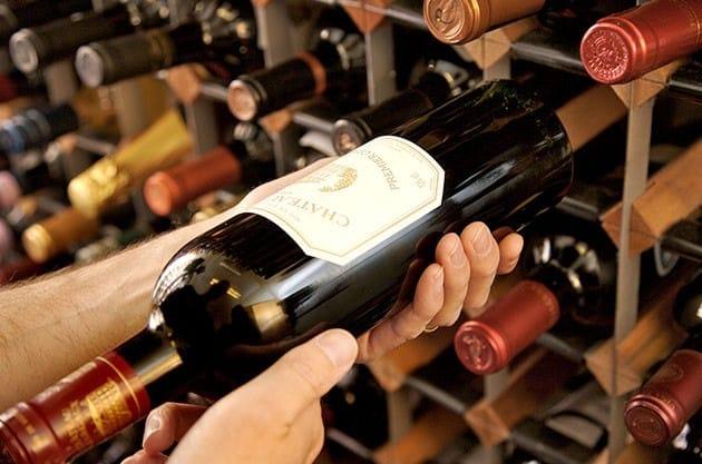 Lagern von Wein