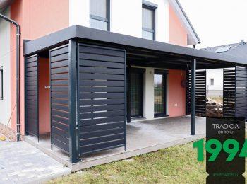 Gartenpergola von GARDEON mit Design-Stahlelementen
