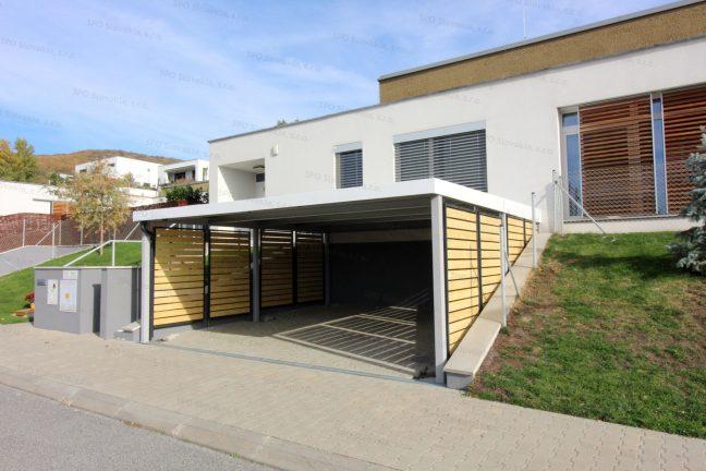 Ein Design-Carport für 2 Autos