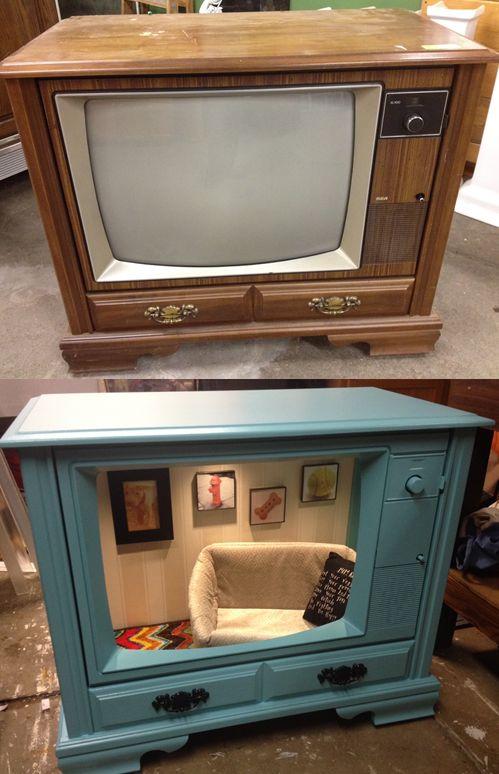 Ein altes Fernseher