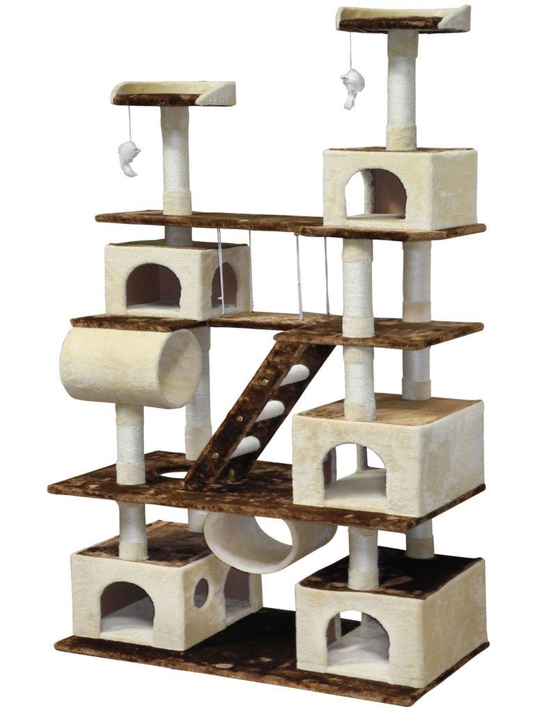 Ein Stock-Häuschen für die Katzen