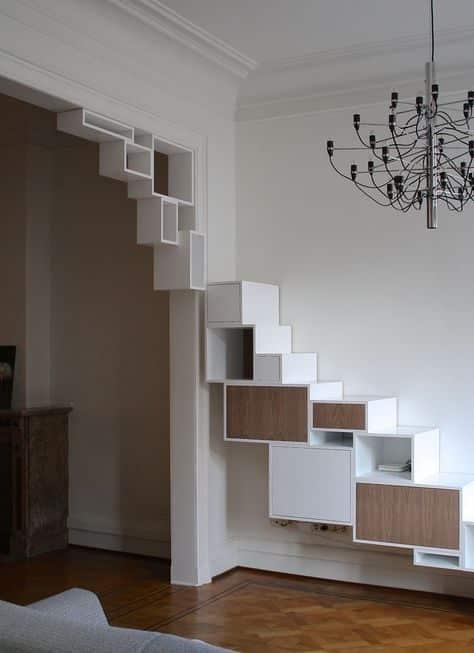Treppen, in denen man auch Sachen verstauen kann