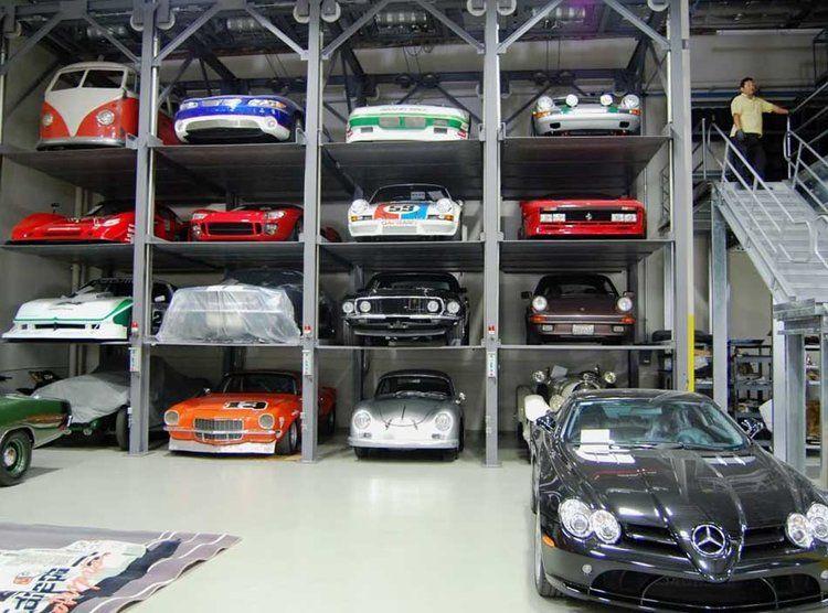 Eine Stockgarage für Autos