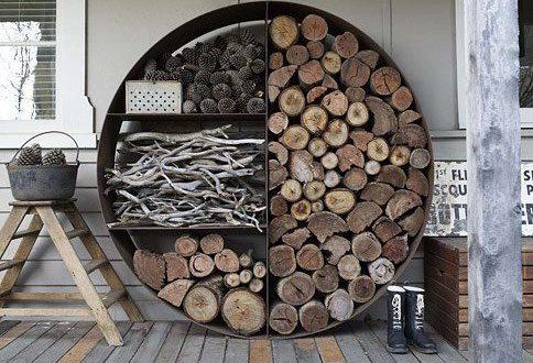 Lagerraum für Holz