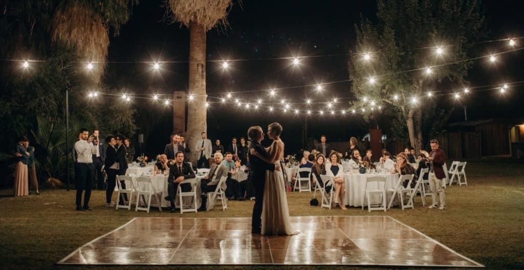 Hochzeit auf dem Garten