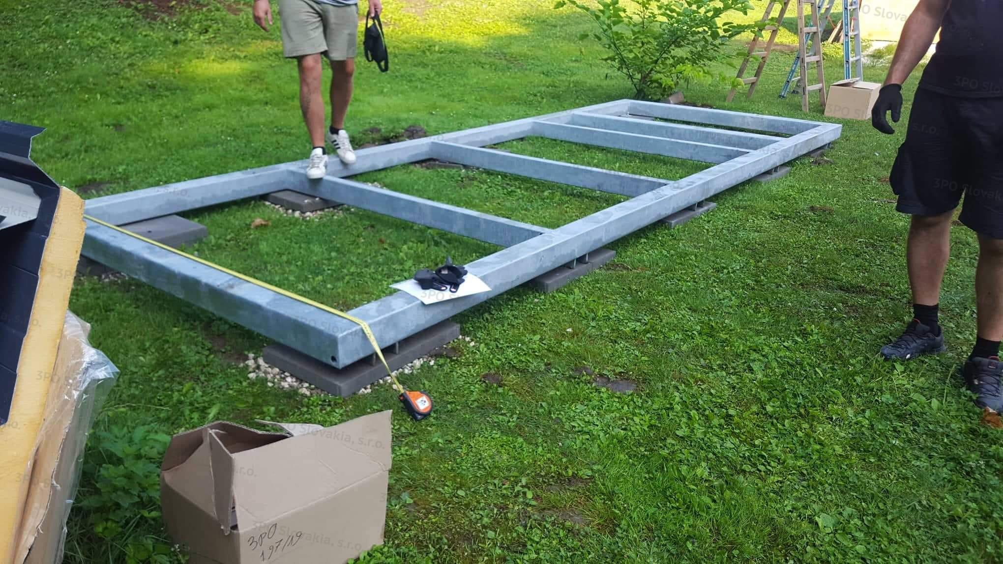 Ein Fundament für die Garage - Yokl-Konstruktion