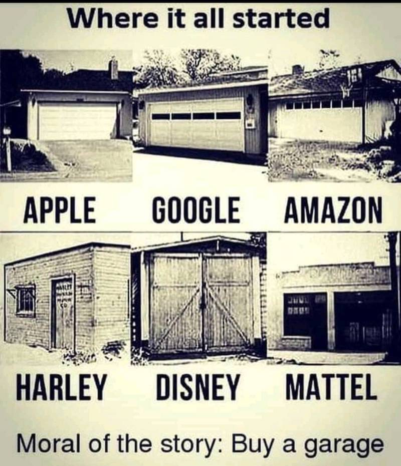Wo bekannte Firmen ihren Anfang hatten