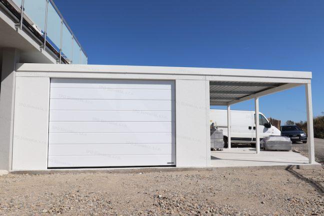 Die Garage von GARDEON komplett in weiß - modern und schlicht