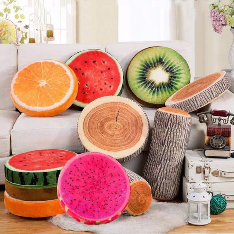 Kissen mit Obst - Bedruck