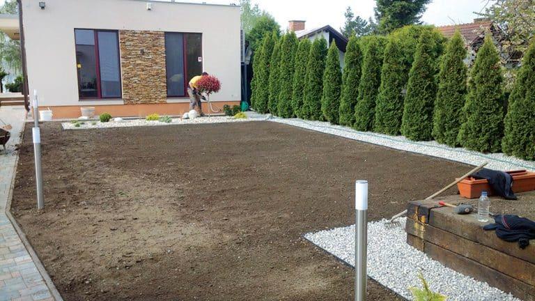 Anfertigung der Grasfläche