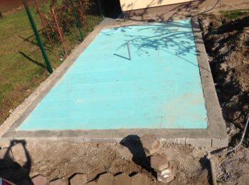 Grundbau für die Betonplatte