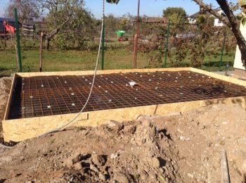 Gittermatten für eine Betonplatte