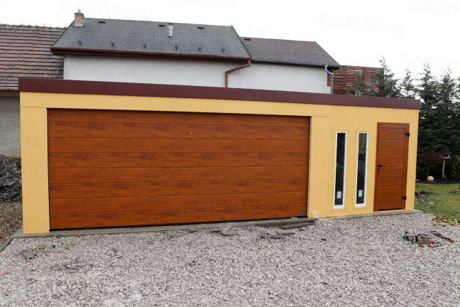 Eine Maßangefertigte Garage in gelb