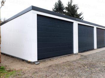 Montierte Garagen von GARDEON mit Toren von Hörmann