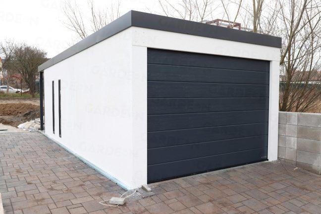 Eine Garage von GARDEON mit dem Dach in anthrazit