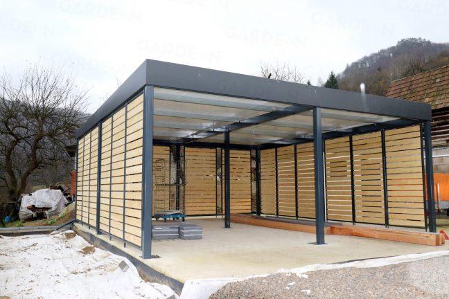 Das Carport von GARDEON mit Design-Ausfüllungen