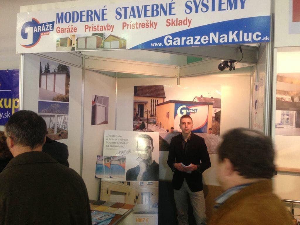 Garáže na Kľúč.sk auf einer Ausstellung