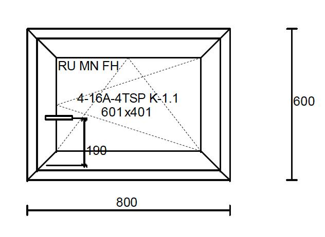 Konstruktionsmaße des Fensters 800x600