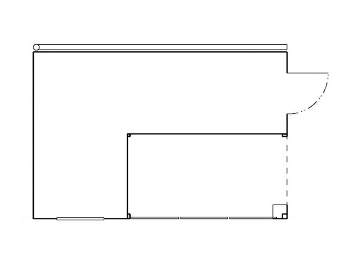 Der Grundriss eines Gartenhauses