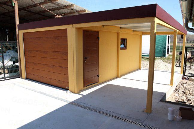 Eine Garage von GARDEON mit Überdachung