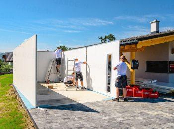 Die Montage einer GARDEON Garage mit Dämmung