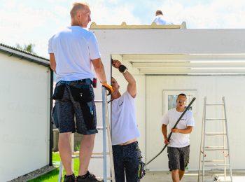 Die Befestigung der THP Dachpaneele