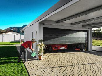 GARDEON Garage mit Doppelcarport