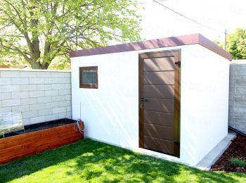 GARDEON Gartenhaus in weiß mit braunem Zubehör