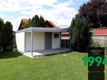 GARDEON Gartenhaus mit Überdachung in weiß