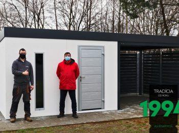 Gartenhaus von GARDEON mit einer simplen Überdachung